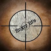 Enjoy life target — Stock Photo