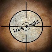 Lose weight target — Stock Photo