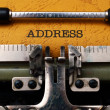 Address text on typewriter — Stock Photo