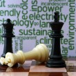 Stock Photo: Chess and ecology concept