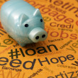 Piggy bank and loan concept — Stock Photo