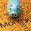 Piggy bank and money concept — Stock Photo