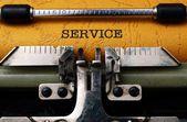 Service text on typewriter — Stock Photo