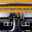 Correspondence text on typewriter — Stock Photo