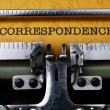 Stock Photo: Correspondence text on typewriter