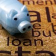 Stock Photo: Piggy bank and loan concept