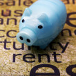 Piggy bank and rent concept — Stock Photo