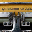 Stock Photo: Questions to ask