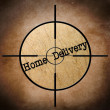Home delivery target — Stock Photo #34625907