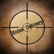 Home delivery target — Stock Photo