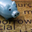 Stockfoto: Borrow and piggy bank