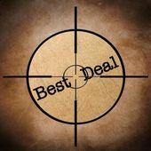 Best deal target — Stock Photo