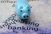 Housing banking target — Stock Photo