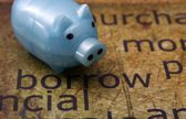 Borrow and piggy bank — Stock Photo