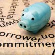 Borrower commitment concept — Stock Photo