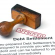 Debt settlement - approved — Stock Photo