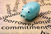 Borrower commitment concept — Stock Photo