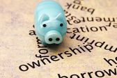 Piggy bank and borrow concept — Stockfoto