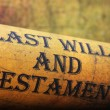 Last will and testament — Stock Photo #35802353