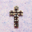 Pixel cross — Stock Photo