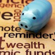 Stock Photo: Piggy bank and wealth concept