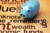 Piggy bank and wealth concept — Foto Stock