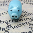 Piggy bank and borrow concept — Foto Stock