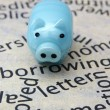 图库照片: Piggy bank and borrow concept