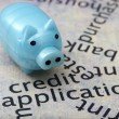 Piggy bank and credit concept — Stock Photo