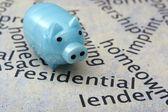 Koncepcja Piggy bank i nieruchomości — Zdjęcie stockowe