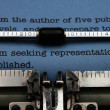 Stock Photo: Publishing letter on typewriter