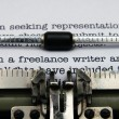 Freelance writer letter — Stockfoto