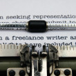 Stock Photo: Freelance writer letter