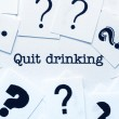 Stock Photo: Quit drinking