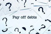 Pay off debts — Stock Photo