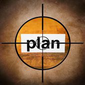 Plan target concept — Stock Photo