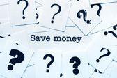 Para kavramı kaydetmek — Stok fotoğraf
