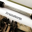 Brainstorm text on typewriter — Stok Fotoğraf #37198389
