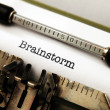 Brainstorm text on typewriter — Stock Photo