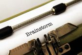 Brainstorm text on typewriter — Zdjęcie stockowe