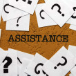 Stock Photo: Assistance and question mark