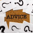 Advice and question mark — Stock Photo #37609773