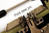 Find new job — Stock Photo