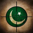 Pakistan flag on cross-hairs — Stock Photo