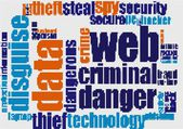 Web criminal danger word cloud — Foto de Stock