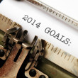 2014 goals — Stock Photo