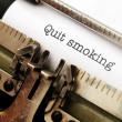 Stockfoto: Quit smoking
