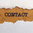 Contact — Stock Photo #38217375