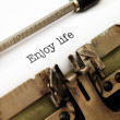 Stock Photo: Enjoy life