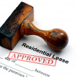 Residential lease - approved — Stock Photo #38306421
